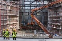 Mid-construction for Hansen Yuncken, on the Western Sydney Performing Art Centre, Rooty Hill