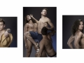 Matt with the Fratelli Farnese (triptych - Matt Mitcham, Umberto Farnese & Rinaldo Farnese), 2012