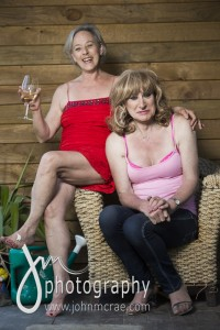 Partners in Crime...Denise and Helen on the verandah