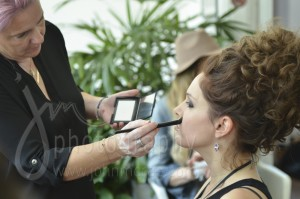 Amanda Harrison in make-up