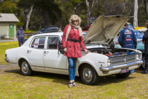 Denise pictured with her Holden Kingswood