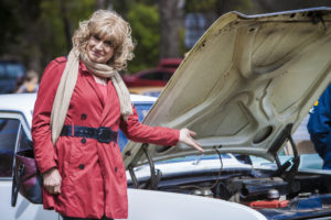 Denise displays the inner workings of the motor