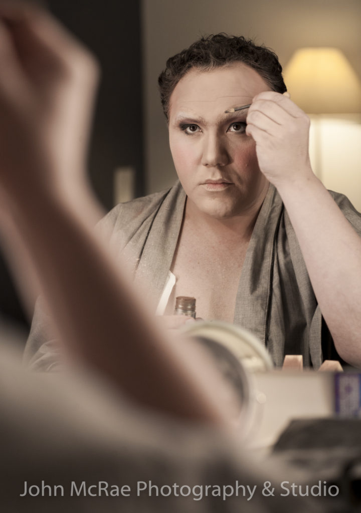 Trevor Ashley, 2011 In make-up for his role of Edna Turnblad for the Australian production of Hairspray