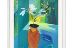 Vase with Flowers on the Blue Table Cloth, 1988/92