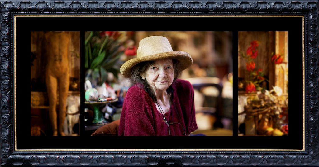 Margaret Olley in her Paddington Studio, 2011   digital print (Framed, expressly by Paul Miliss, Paddington Frames, Margaret's own framer.  The frame was his choice based on what he felt Margaret would have liked) AP (Edition of 6, 2AP)