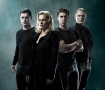 "The cast of ""Blood Brothers"" (Bobby Fox, Helen Dallimore, Josh Piterman and Michael Cormick)"