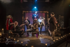 """Production shot for """"Cabaret"""", the musical with Paul Capsis and Chelsea Gibb"""