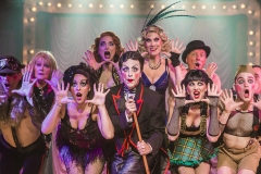 "Production shot for ""Cabaret"", the musical with Paul Capsis and Chelsea Gibb"