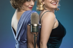 Promotional shot with Helen Dallimore and Pippa Grandison