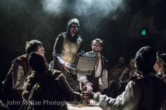 "Production still from ""Spamalot"", performed at the Hayes Theatre"
